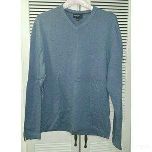 Men's BANANA REPUBLIC Blue V-Neck Sweater Medium